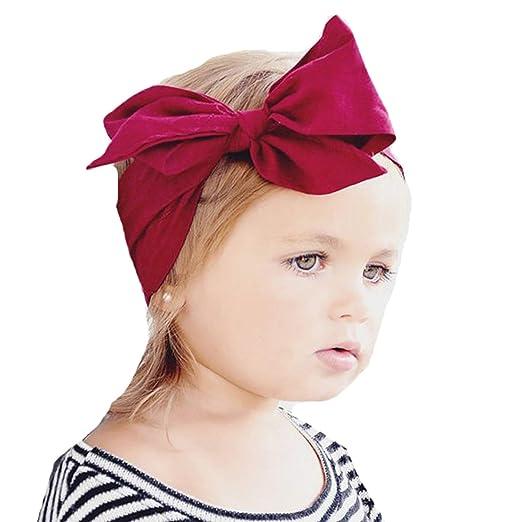 Amazon.com  Miugle Baby Girl Knot Cotton Turban Headbands Headwraps ... 5aa44431352