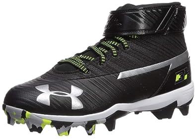 best cheap 9d210 ff5c9 Under Armour Boys  Harper 3 Mid Jr. RM Baseball Shoe, Black (001