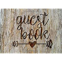 """Guest Book: Rustic Chic Guest Book for Weddings, Showers & More (8.25"""" x 6.0 """")"""
