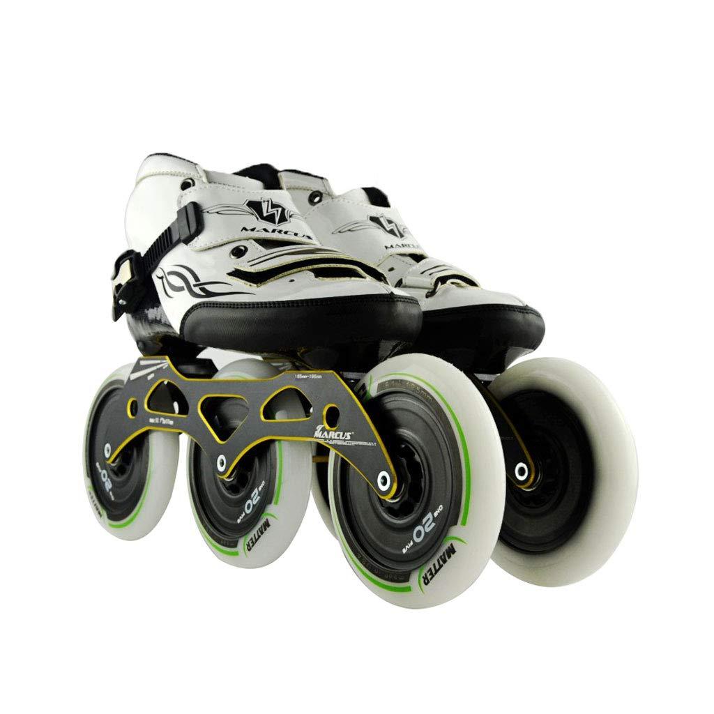ailj スピードスケート靴3 * 125MM調整可能なインラインスケート、ストレートスケート靴(4色) (色 : Green, サイズ さいず : EU 39/US 7/UK 6/JP 24.5cm) B07HVR95B5 EU 38/US 6/UK 5/JP 24cm|黒 黒 EU 38/US 6/UK 5/JP 24cm