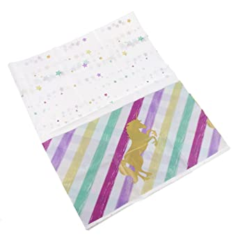 fenteer Unicornio Dorado de platino Frizzante del toallas para rectangulares, poliéster estampado, multicolor 220
