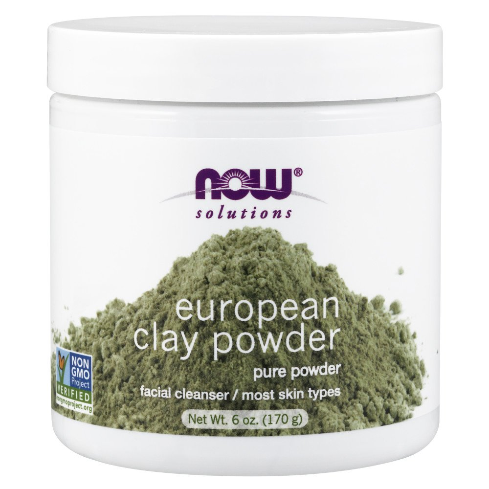 NOW Solutions European Clay Powder, 6-Ounce