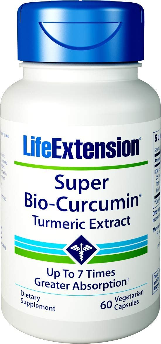 Life Extension Super Bio-Curcumin Turmeric Extract 400mg, 60 Vegetarian Capsules: Health & Personal Care