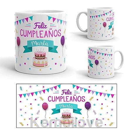 Kembilove Taza de Café Cumpleaños – Taza de Desayuno con Frase Personalizada Aniversarios Amigos – Taza de Café y Té para Amigos – Taza de Cerámica ...