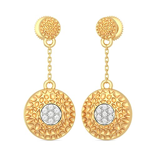 091973b6e Buy BlueStone 18k Yellow Gold and Diamond Drop Earrings Online at Low Prices  in India | Amazon Jewellery Store - Amazon.in