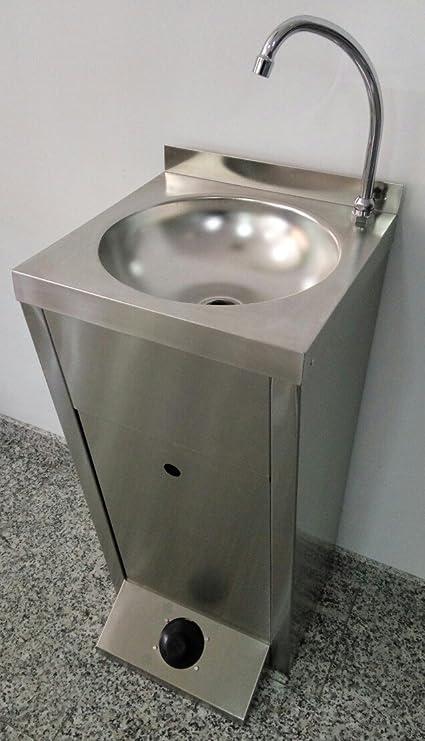 LAVAMANOS AUTONOMO INOXIDABLE BASIC (Con Kit de agua cliente)