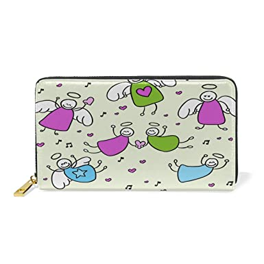 Amazon.com: Rainbow Unicorn Star - Monedero de piel con ...
