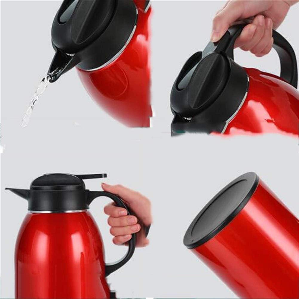 Rouge Court 1.6L // 2.2L Bouilloire Domestique Pot int/érieur en Acier Inoxydable 304 Eau bouillante Thermos Grande capacit/é Thermos XIONGHAIZI Pot disolation