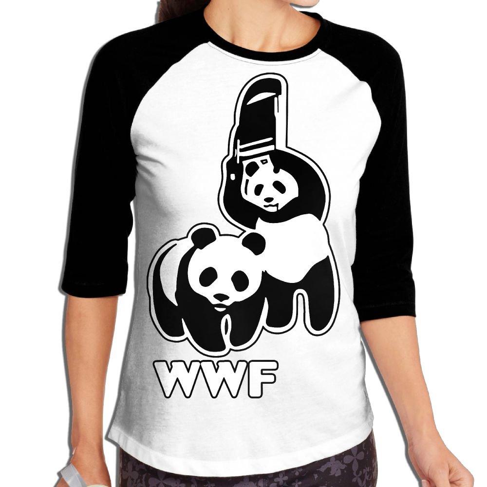 WWOJWBU WWF Funny Panda Bear Wrestling Women's Casual Half Sleeve Printed T-Shirt by WWOJWBU