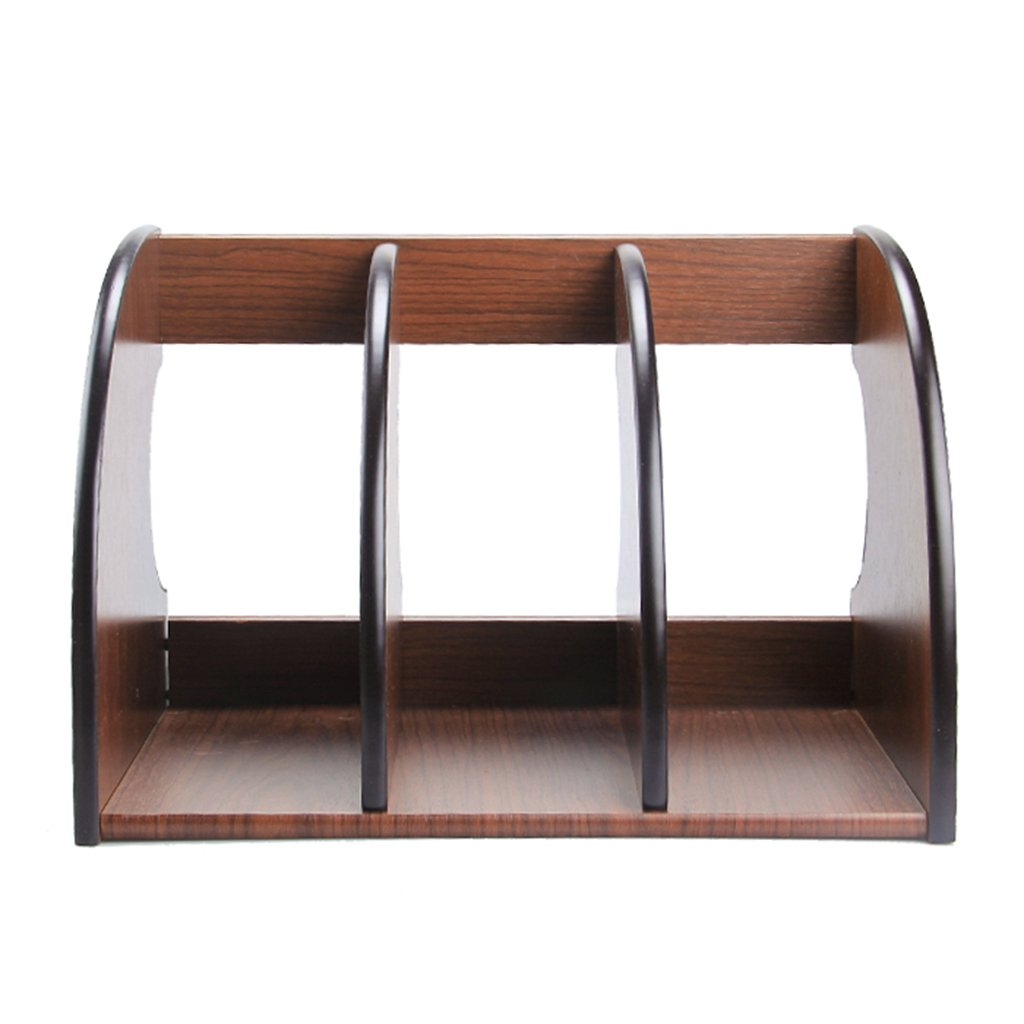 FJXLZ® Woody Book Stand 320  210  220mm Fashion Creative File Rack File Bar Desktop Magazin Regale Faltbar und einstellbar