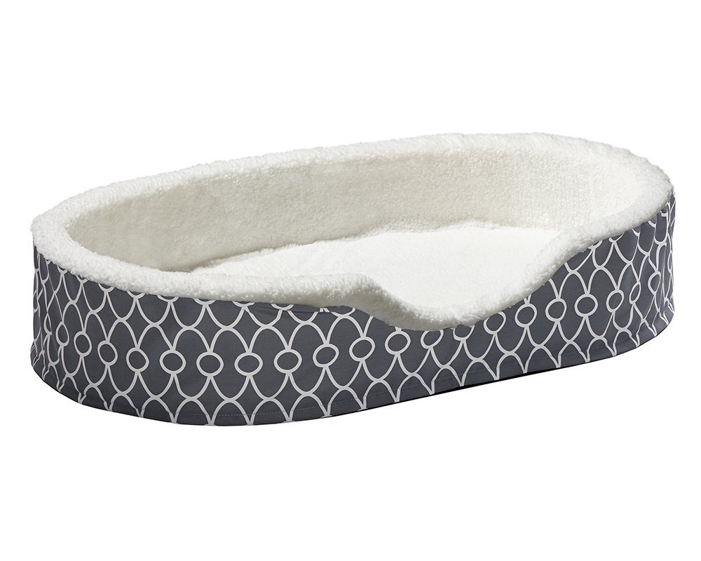 Orthoperdic Egg-Crate Nesting Pet Bed w/ Teflon Fabric Protector, XL Gray