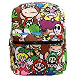 "16"" Super Mario All Over Print School Backpack"