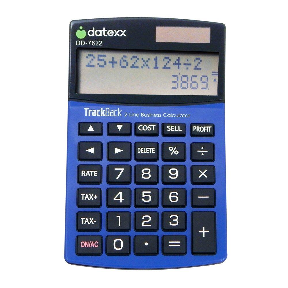 Datexx 2-Line TrackBack Business Slim Mini Desktop Calculator, DD-7622