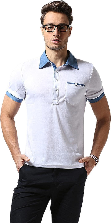 Sportides Mens Hombre Polo Shirts Camisetas Contrast Collar Golf ...
