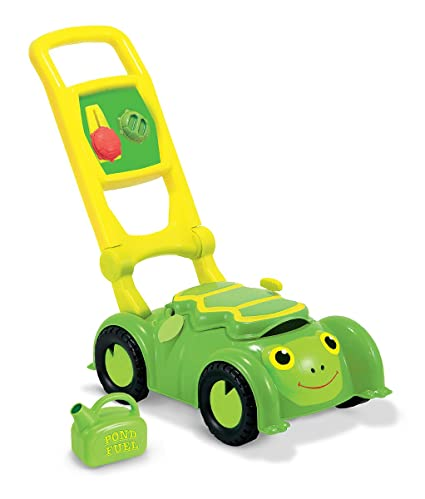 Melissa Doug Sunny Patch Tootle Turtle Mower With Storage Compartment