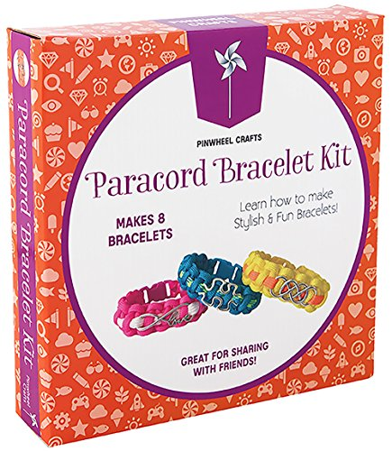 Paracord Charm Bracelet Making Set: Pinwheel Crafts DIY Bracelets Kit for Girls, Teens & Children - Make Your Own Personalized Friendship & Fashion Jewelry for Birthdays, Parties, Camps & Art Projects]()