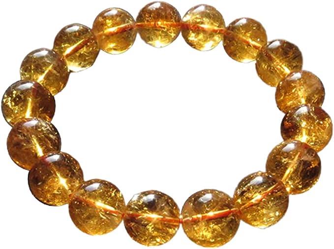 Citrine Natural Round Gemstone Bead 10mm Bracelet 7-7.5/'/'L