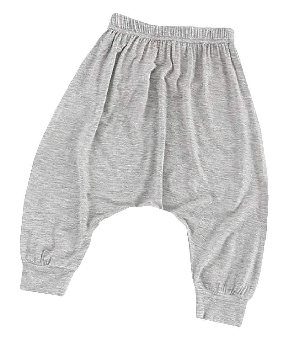 Etecredpow Boys Elastic Waist Jogger Harem Summer Drop Crotch Pants Trousers