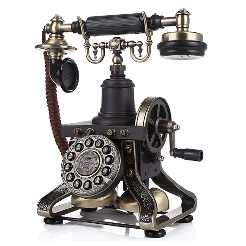 HY アンティーク電話クラシックボタンダイヤルメカニカル着メロホーム電話 (色 : ボタン)  ボタン B07H6NKPD7