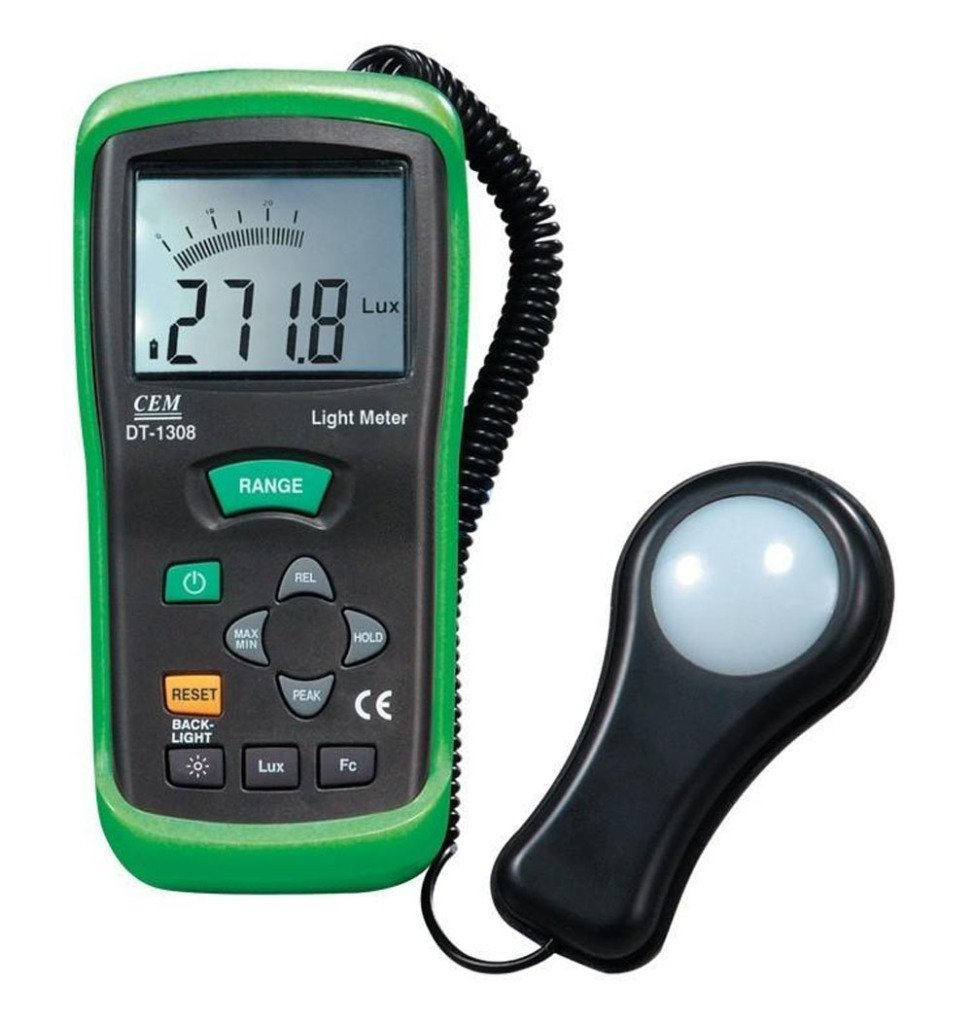 Cem DT-1308 Handheld Digital FC/Lux Detector and Light Meter