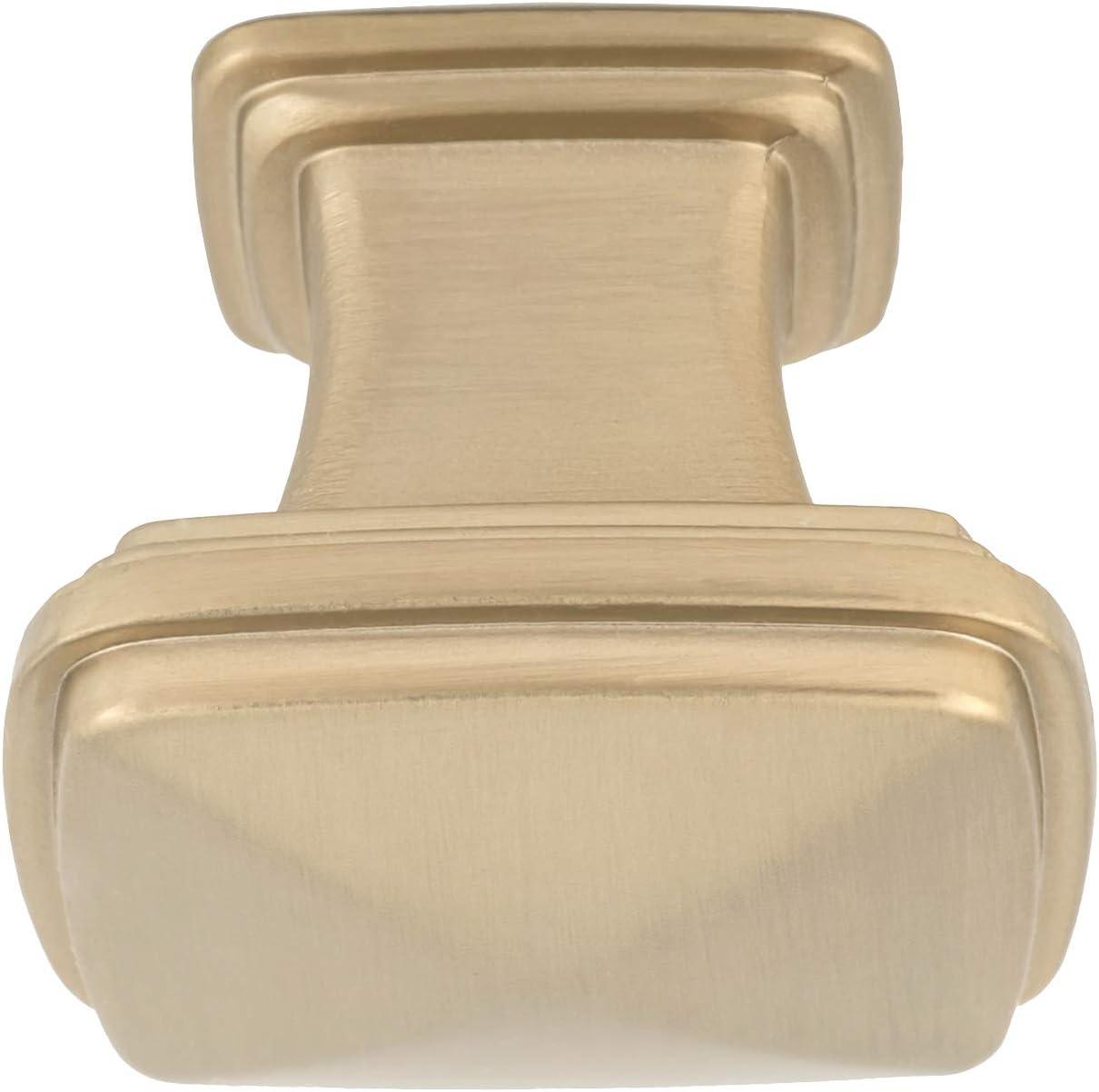 AB400-GC-25 Basics 3,17 cm de di/ámetro Pomo de armario color dorado champ/án