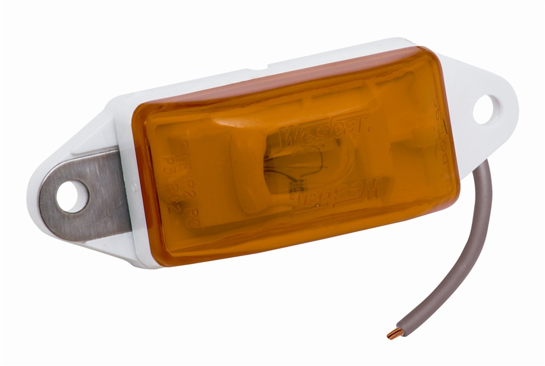 Amber with White Ear-Mount Base Wesbar Standard Waterproof Side Marker Light