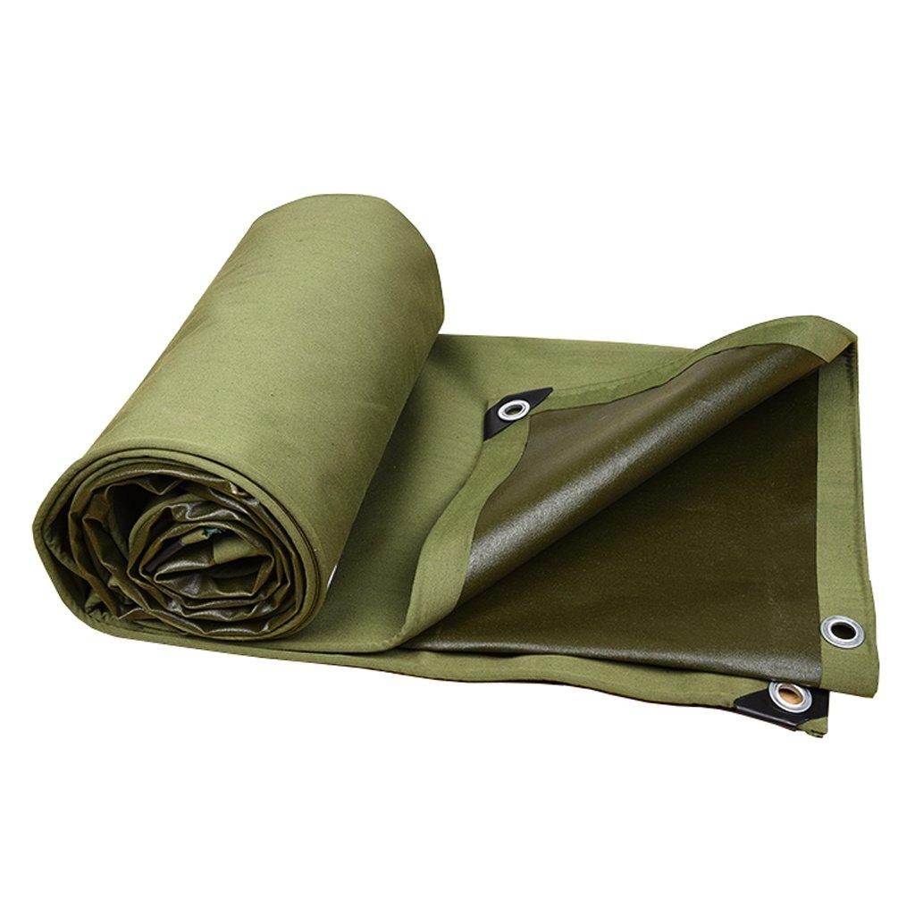Zelt Zubehör Plane Grüne Plane-Wasserdichte Hochleistungs-Plane-Blatt-Stärke 0.8mm, 600g / m² - 100% wasserdicht und UVgeschützt, 9 Größe vorhanden Idee für Camping Wandern