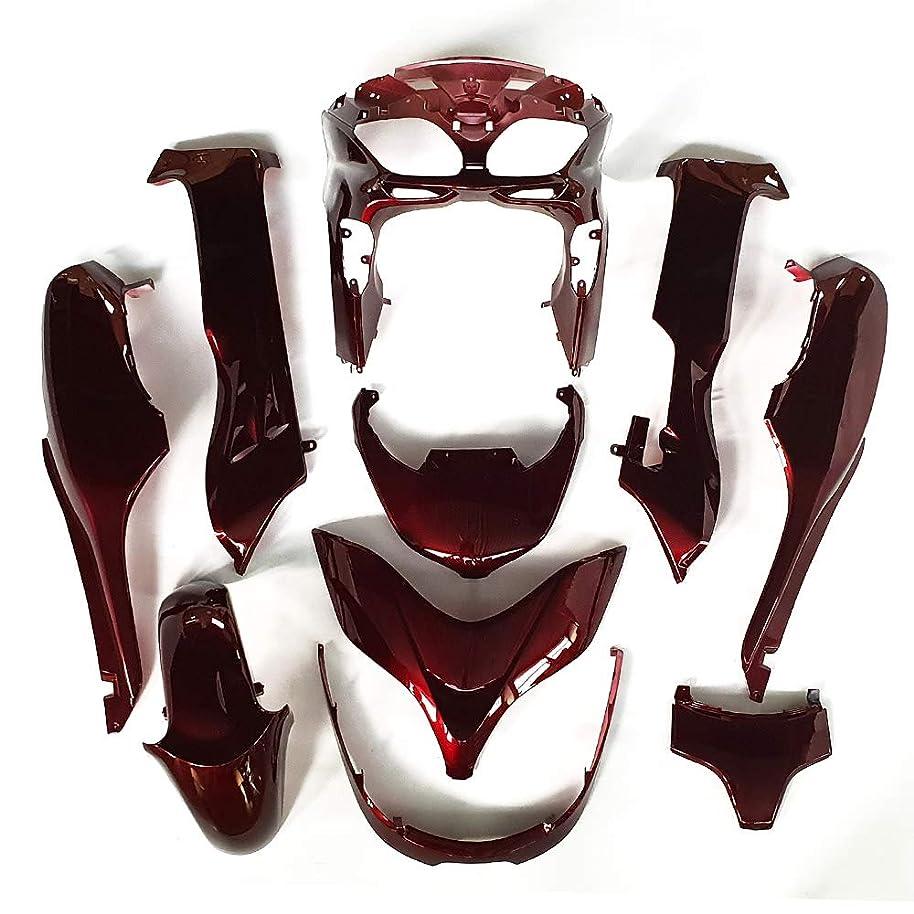 海港基礎理論瞑想する9FastMotoyamaha ヤマハ 2017 YZF-600 R6 17 YZF 600 R6 用フェアリング オートバイフェアリングキット ABS 射出成形セット スポーツバイク カウル パネル (レッド & ブラック) Y1109
