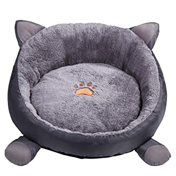 Authda Cama para Perros Cama de Felpa Suave para Perros pequeños y Gatos Lavable para Mascotas