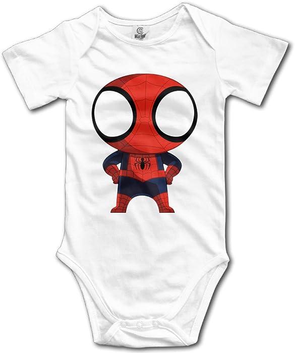 47d1f3ed1 WINKOO Baby Boy Girl Spider-Man Hero Guard New York Homecoming Bodysuit  Romper Climbing Clothes - White -  Amazon.co.uk  Clothing