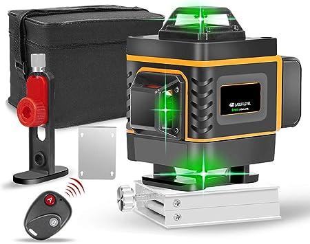 Treppiede Target Laser Supporto Magnetico Rotante Telecomando Custodia Protettiva IP54 2x Batterie Tavolo Elevatore TEQStone Livella Laser Verde Autolivellante 4x 360 /° Fino a 25M