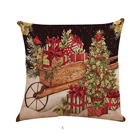 Amazon.com: XIMOMO Merry XMas Theme Pillowcase Christmas ...