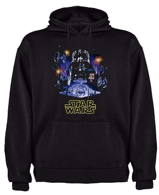Sudadera de NIÑOS Star Wars Dark Vader Han Solo Fuerza Yoda Leia: Amazon.es: Ropa y accesorios
