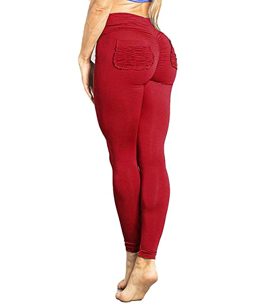 5626da62e115b1 Image Unavailable. Image not available for. Color: FITTOO Women Butt Lift  Ruched Yoga Pants Sport Pants Workout Leggings ...