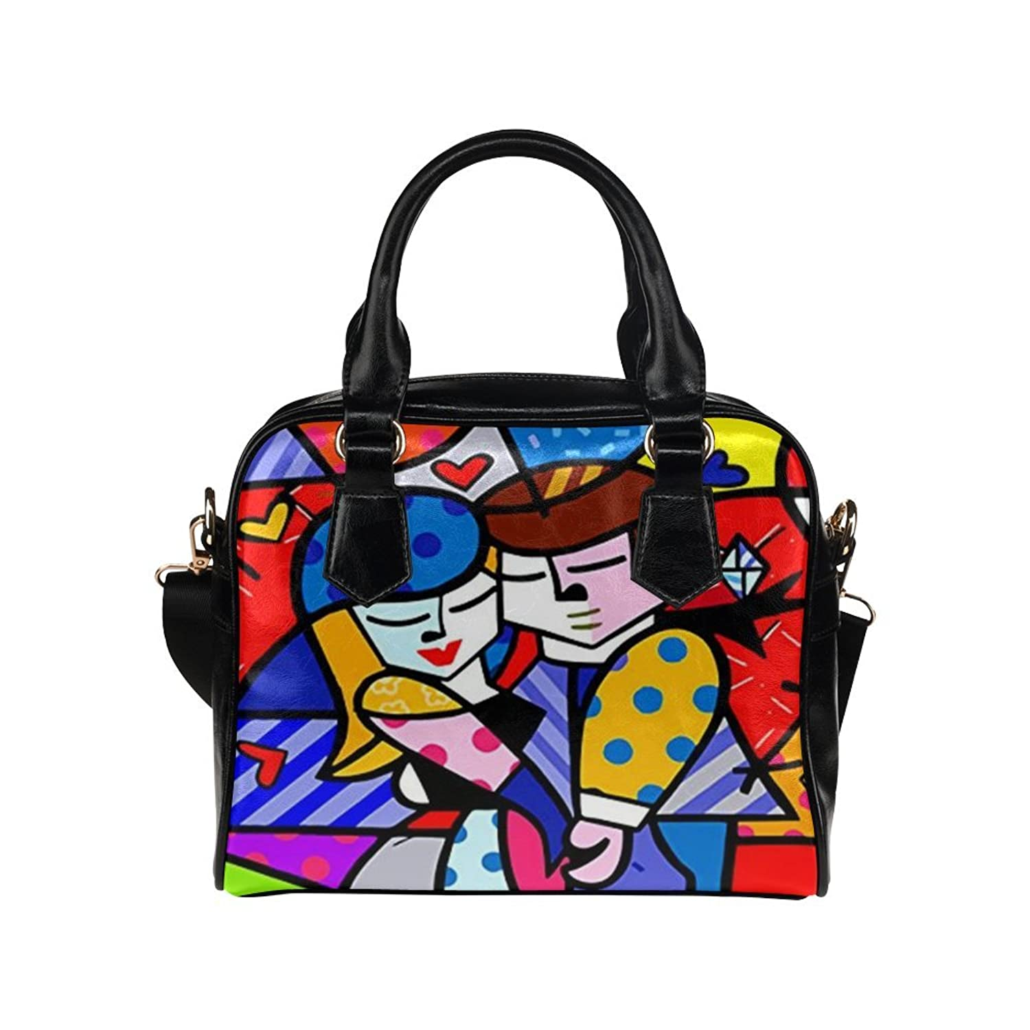 Angelinana Custom Women's Handbag Romero Britto6 Fashion Shoulder Bag