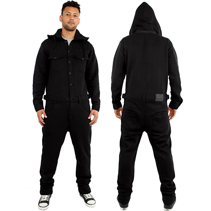 Brooklyn Mint - Pijama de una Pieza - para Hombre Negro Negro M