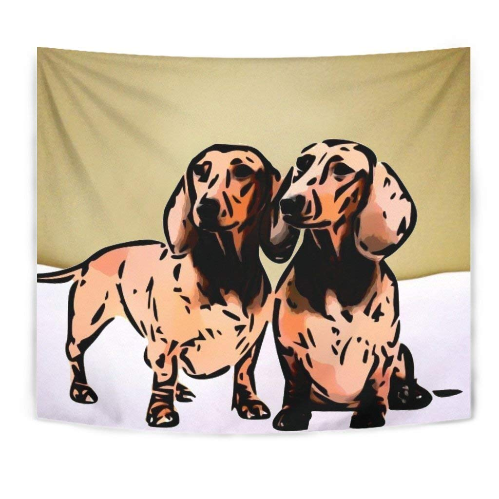 Dachshund Dog Print Tapestry by Paws With Attitude