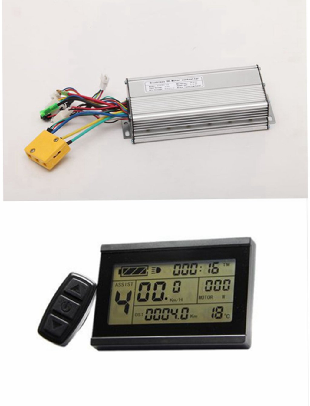NBPOWER 48V 1500W 35A Brushless DC Motor Controller Ebike Controller +KT-LCD3 Display One Set,used for 1500W Ebike Kit.