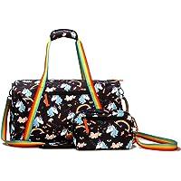Kemy's Unicorn Duffel Bag with Cute Rainbow for Women