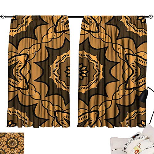 Hariiuet Curtain tiebacks Seamless Art Deco Floral Pattern with Modern Style Ornament on Color Background for Wallpaper Cover Book Fabric scrapbooks 17 72