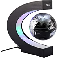Yosoo C Forma Decoración Levitación Magnética Flotante Globo Luz LED de mapa del mundo–regalo de Navidad