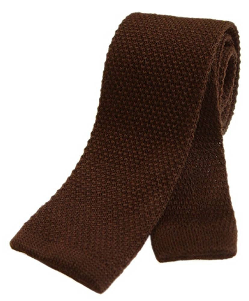 Brown Tyler and Tyler Mens Plain Knitted Wool Tie