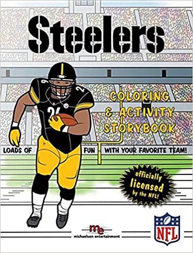 pittsburgh steelers coloring activity storybook brad m epstein