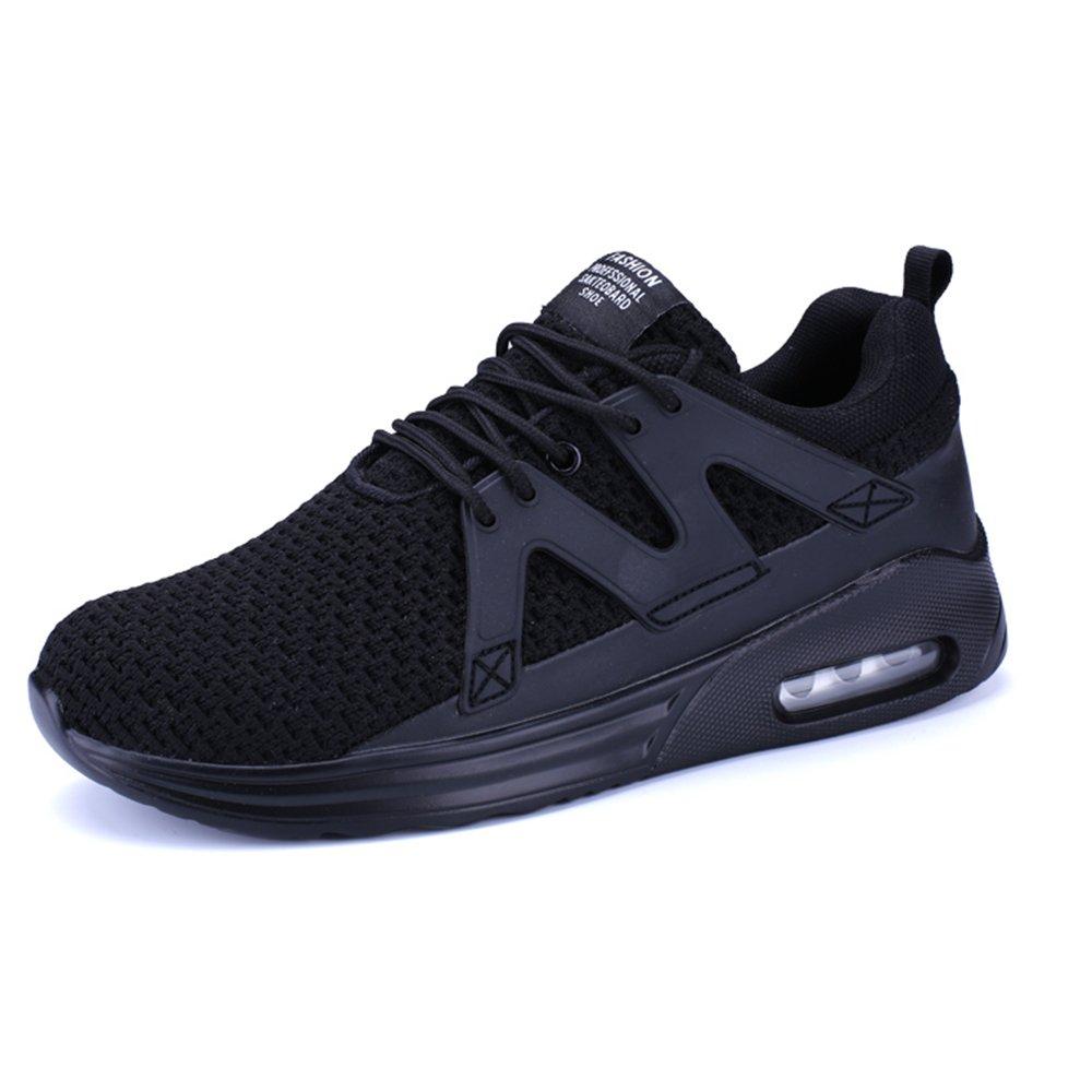 XIANV Herren Sneaker Bequeme Freizeitschuhe Mauml;nner Durable Flache Schuhe Mauml;nner Trainer Mesh Breathable Licht Weicher Mann Ebene  40 EU|Schwarz