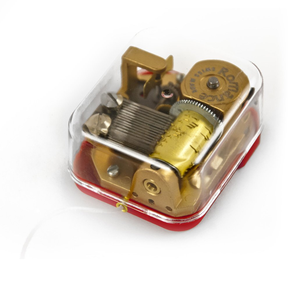 MusicBoxAttic 18 Note Movement Pull String With Case - Over 400 Song Choices - Could I Have This Dance