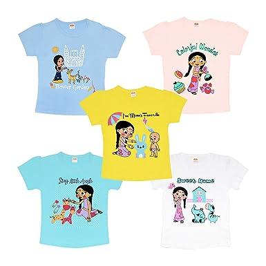 028e48755 Chhota Bheem Luke and Lilly Fame Chutki Baby Girl Cotton Tshirt ...