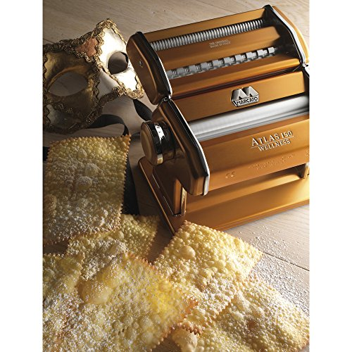 Marcato Atlas Pasta Machine, Made in Italy, Red, Includes Pasta Cutter, Hand Crank, and Instructions by Marcato (Image #3)