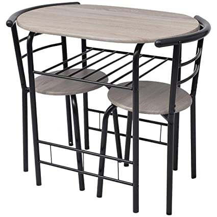 Tavolini E Sedie Da Bar.Vidaxl Set Da Bar 3 Pz Tavolino E Sgabelli Da Colazione Sedie Angolo Cucina