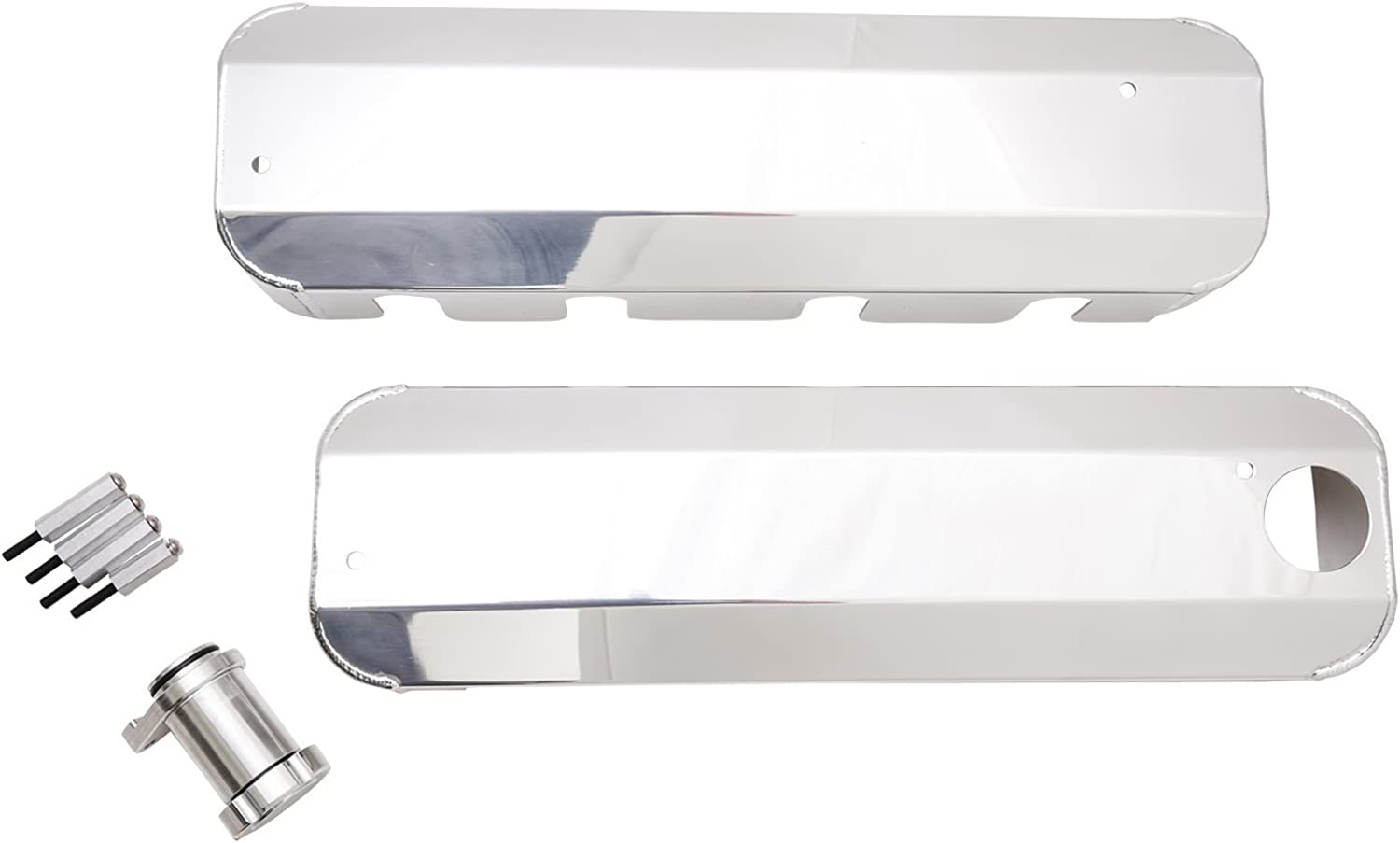 Top Street Performance JM8081-7P Polished LS1 Fabricated Coil Cover with Oil Filler