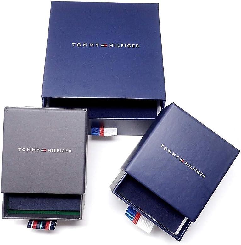 Sortija Tommy Hilfiger acero inoxidable logo TH talla 14 lisa abierta 2700864C [AB9891]: Amazon.es: Joyería